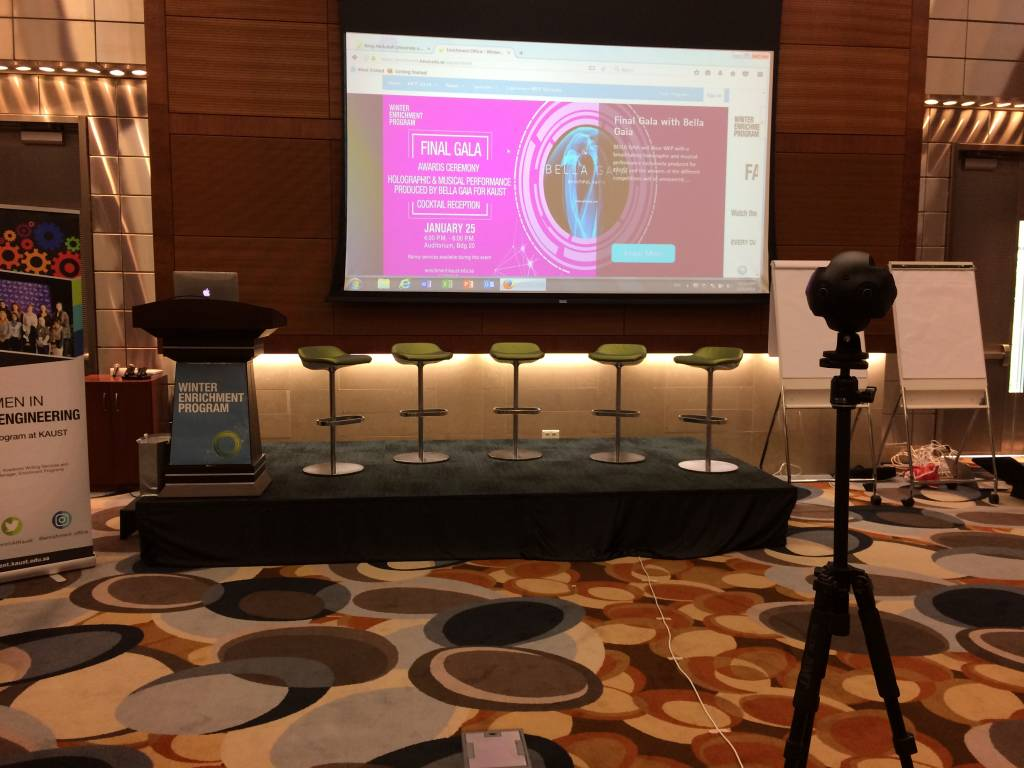 KAUST WEP 2018, 360 Live Streaming by Visual Experience, Virtual Reality from Saudi Arabia