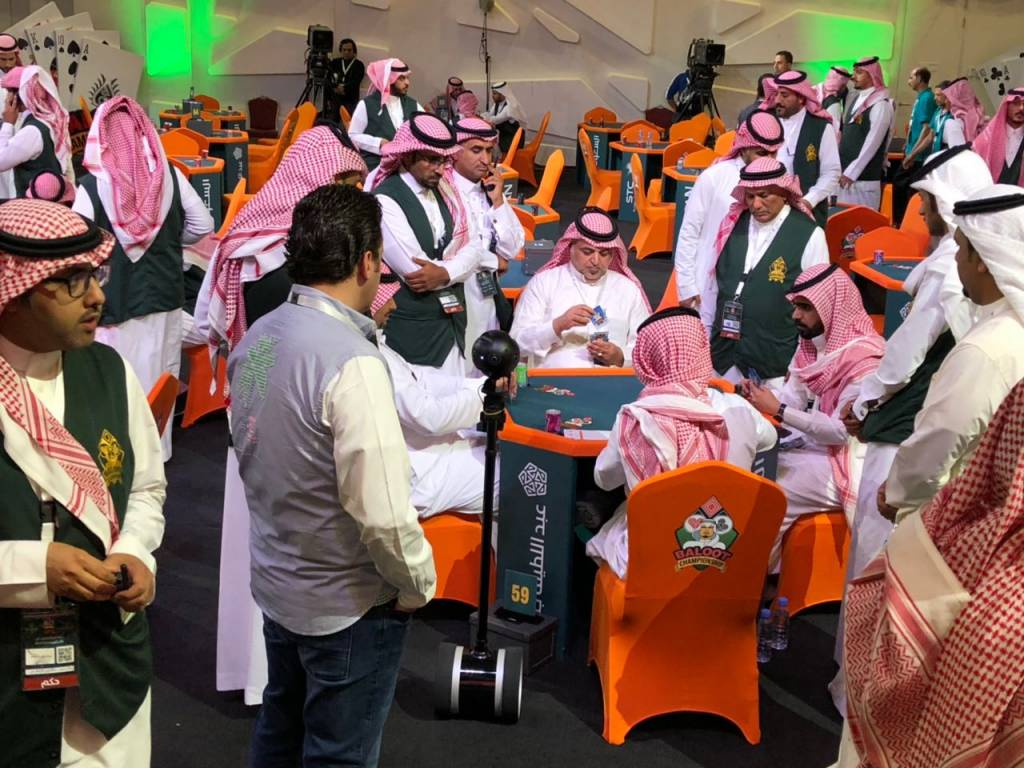 Baloot Championship in Riyadh, broadcasted by Visual Experience, Virtual Reality from Saudi Arabia